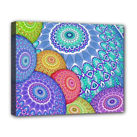 India Ornaments Mandala Balls Multicolored Deluxe Canvas 20  x 16
