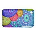 India Ornaments Mandala Balls Multicolored Apple iPhone 3G/3GS Hardshell Case (PC+Silicone) View1