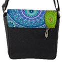 India Ornaments Mandala Balls Multicolored Flap Messenger Bag (S) View1