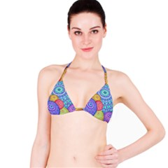 India Ornaments Mandala Balls Multicolored Bikini Top