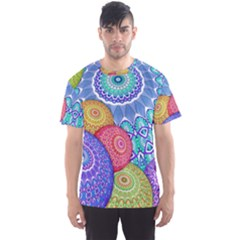 India Ornaments Mandala Balls Multicolored Men s Sport Mesh Tee