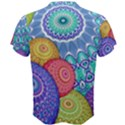 India Ornaments Mandala Balls Multicolored Men s Cotton Tee View2