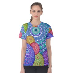 India Ornaments Mandala Balls Multicolored Women s Cotton Tee