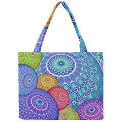 India Ornaments Mandala Balls Multicolored Mini Tote Bag