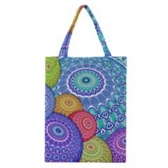 India Ornaments Mandala Balls Multicolored Classic Tote Bag