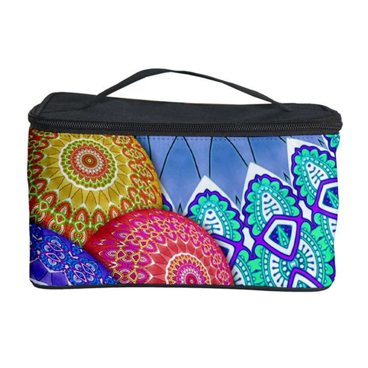India Ornaments Mandala Balls Multicolored Cosmetic Storage Case