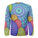 India Ornaments Mandala Balls Multicolored Men s Long Sleeve Tee View2