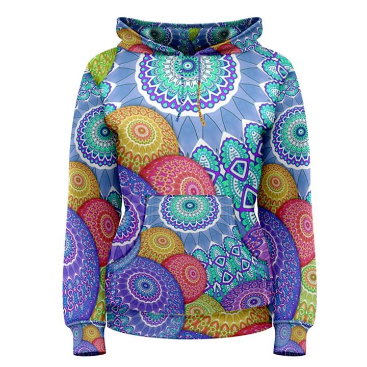 India Ornaments Mandala Balls Multicolored Women s Pullover Hoodie