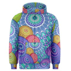 India Ornaments Mandala Balls Multicolored Men s Zipper Hoodie