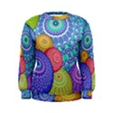 India Ornaments Mandala Balls Multicolored Women s Sweatshirt View1