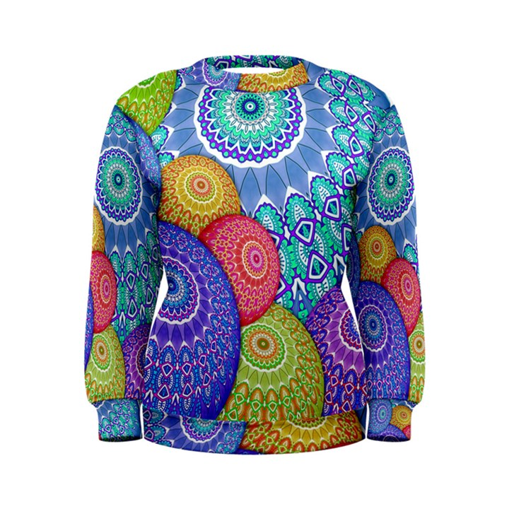 India Ornaments Mandala Balls Multicolored Women s Sweatshirt