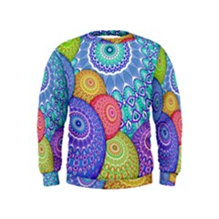 India Ornaments Mandala Balls Multicolored Kids  Sweatshirt