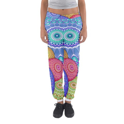 India Ornaments Mandala Balls Multicolored Women s Jogger Sweatpants