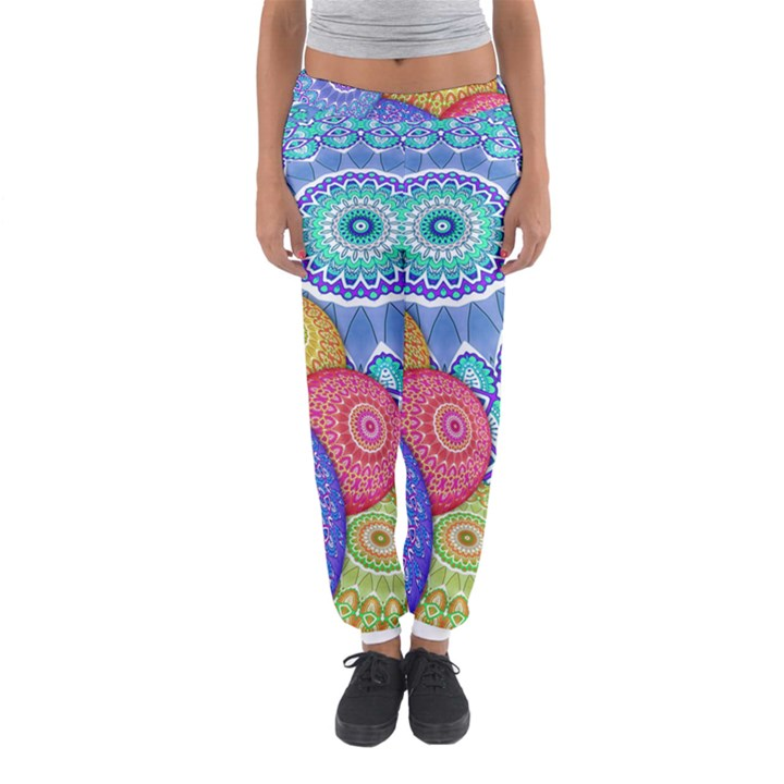 India Ornaments Mandala Balls Multicolored Women s Jogger Sweatpants