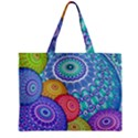 India Ornaments Mandala Balls Multicolored Zipper Mini Tote Bag View2