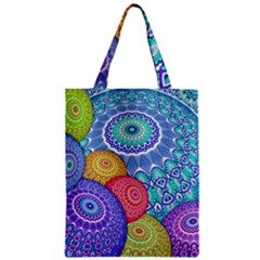 India Ornaments Mandala Balls Multicolored Zipper Classic Tote Bag
