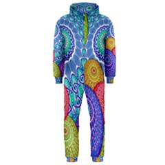 India Ornaments Mandala Balls Multicolored Hooded Jumpsuit (Men)