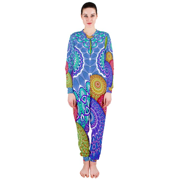 India Ornaments Mandala Balls Multicolored OnePiece Jumpsuit (Ladies)