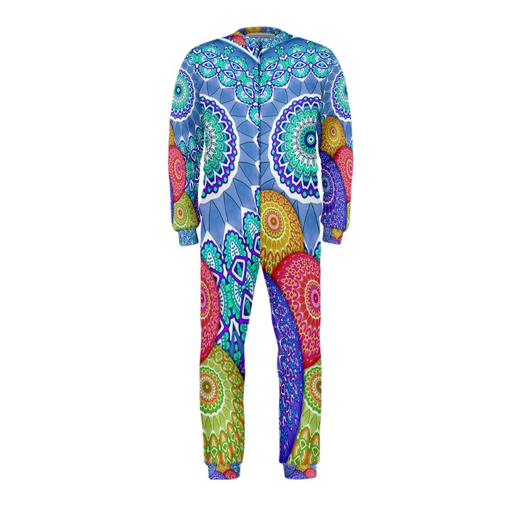 India Ornaments Mandala Balls Multicolored OnePiece Jumpsuit (Kids)