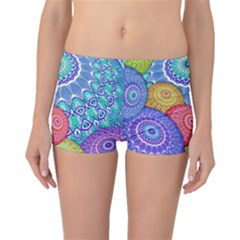 India Ornaments Mandala Balls Multicolored Boyleg Bikini Bottoms