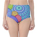 India Ornaments Mandala Balls Multicolored High-Waist Bikini Bottoms View1
