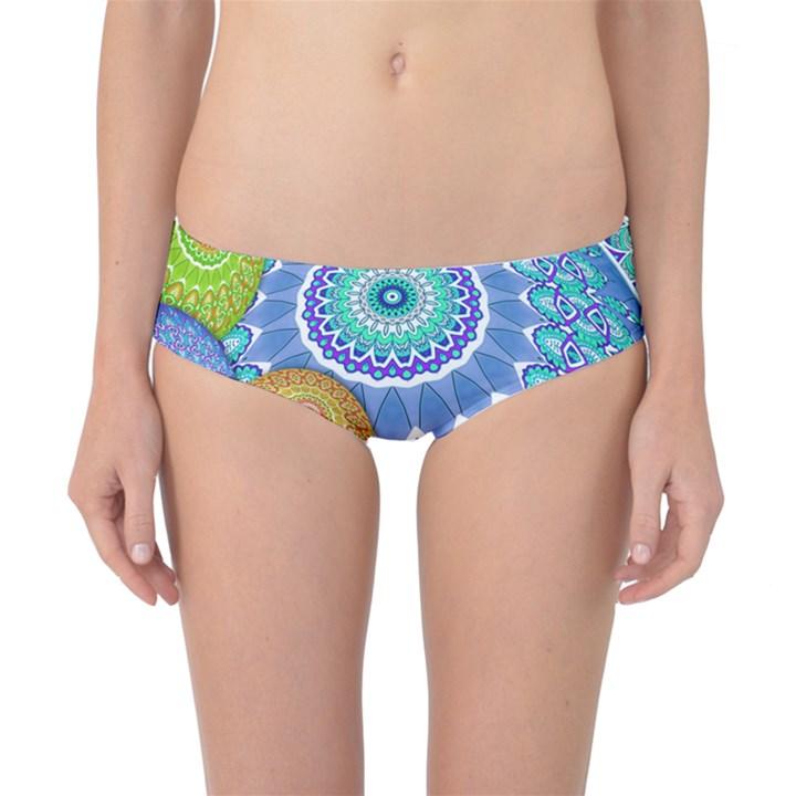 India Ornaments Mandala Balls Multicolored Classic Bikini Bottoms