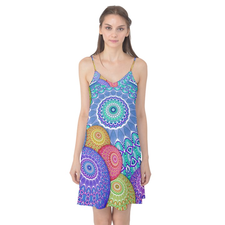 India Ornaments Mandala Balls Multicolored Camis Nightgown