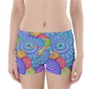 India Ornaments Mandala Balls Multicolored Boyleg Bikini Wrap Bottoms View1