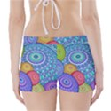 India Ornaments Mandala Balls Multicolored Boyleg Bikini Wrap Bottoms View2
