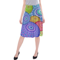 India Ornaments Mandala Balls Multicolored Midi Beach Skirt
