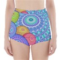 India Ornaments Mandala Balls Multicolored High-Waisted Bikini Bottoms View1