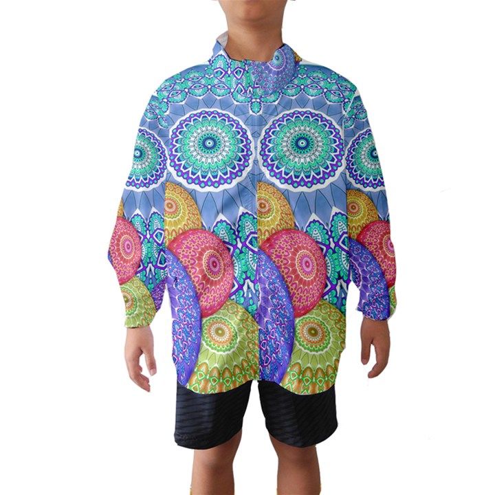 India Ornaments Mandala Balls Multicolored Wind Breaker (Kids)