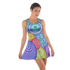 India Ornaments Mandala Balls Multicolored Cotton Racerback Dress