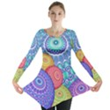 India Ornaments Mandala Balls Multicolored Long Sleeve Tunic  View1