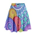India Ornaments Mandala Balls Multicolored High Waist Skirt View1