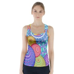 India Ornaments Mandala Balls Multicolored Racer Back Sports Top