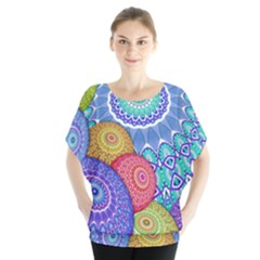 India Ornaments Mandala Balls Multicolored Blouse