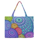 India Ornaments Mandala Balls Multicolored Medium Zipper Tote Bag View1