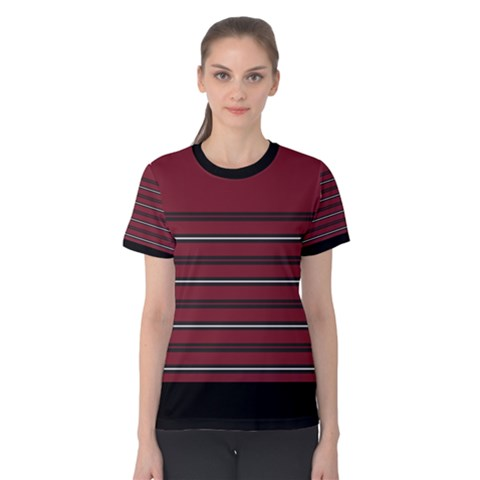 Blocks And Stripes Women s Cotton Tee