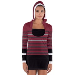 Blocks And Stripes Women s Long Sleeve Hooded T-shirt