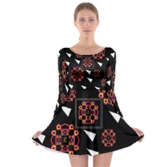 Win 20161004 23 30 49 Proyiyuikdgdgscnhggpikhhmmgbfbkkppkhouj Long Sleeve Skater Dress