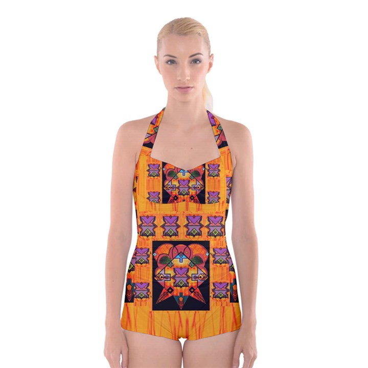 Clothing (20)6k,kk  O Boyleg Halter Swimsuit