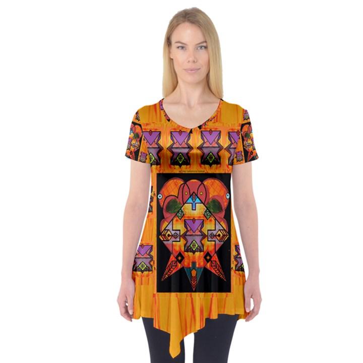 Clothing (20)6k,kk  O Short Sleeve Tunic