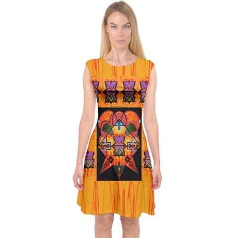 Clothing (20)6k,kk  O Capsleeve Midi Dress