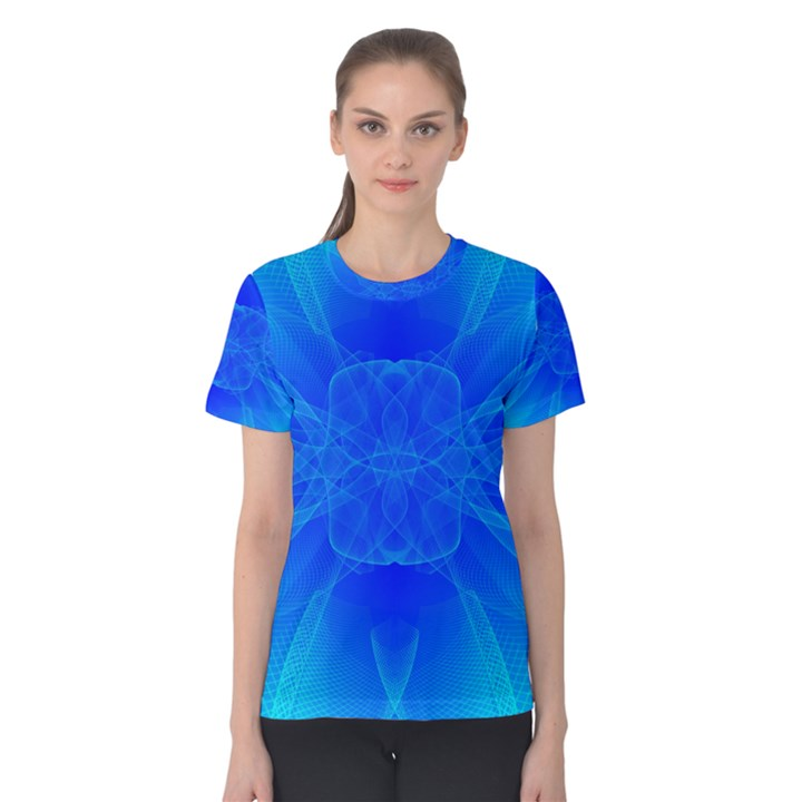 Bleu Ciel  Women s Cotton Tee