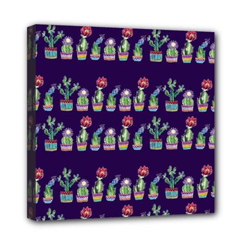 Cute Cactus Blossom Mini Canvas 8  x 8