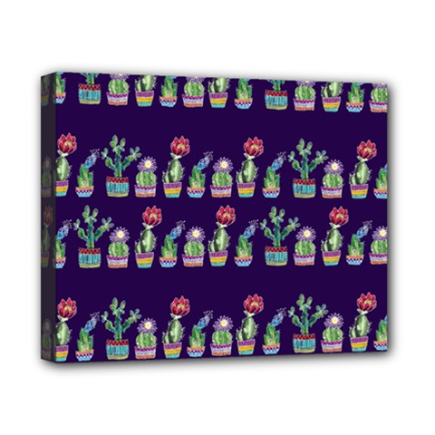 Cute Cactus Blossom Canvas 10  x 8