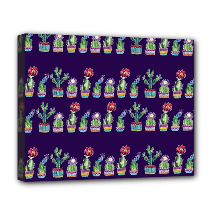 Cute Cactus Blossom Deluxe Canvas 20  x 16