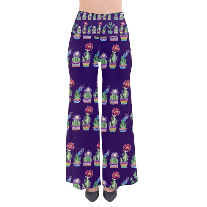 Cute Cactus Blossom Women s Chic Palazzo Pants