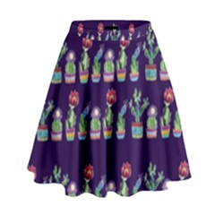 Cute Cactus Blossom High Waist Skirt